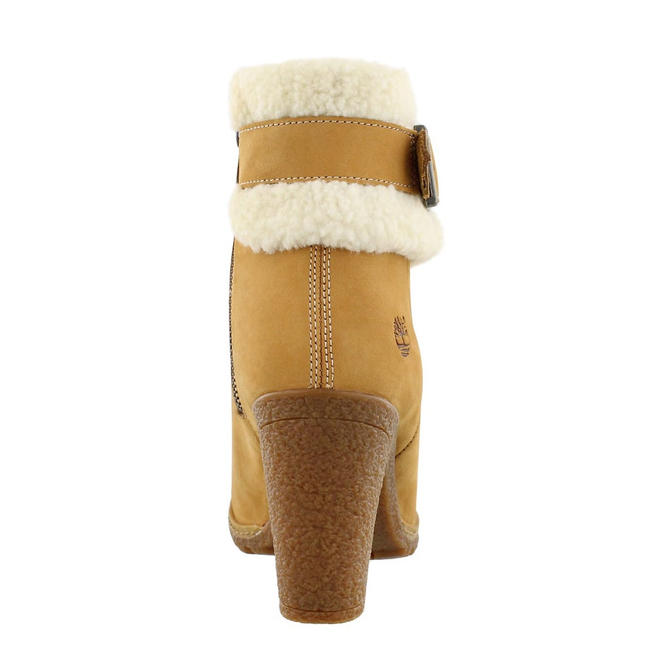 Lds Glancy Fold Down wheat ankle boot