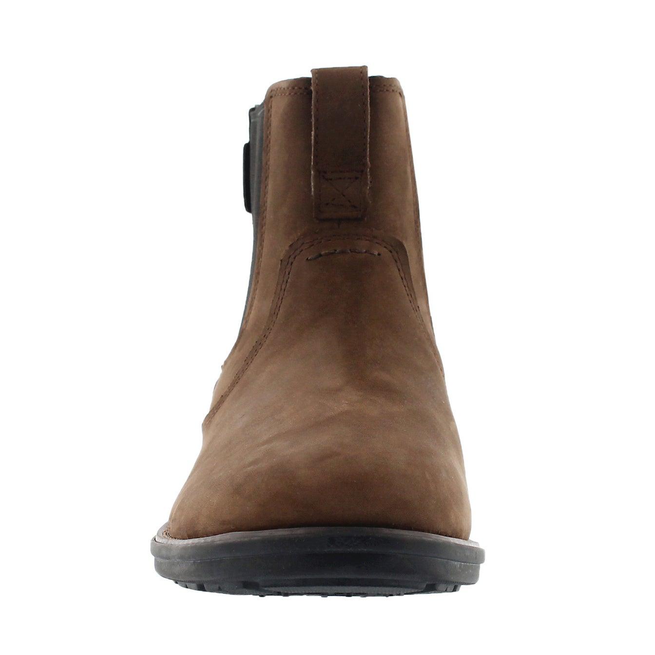 Mns Carter Notch brn chelsea boot- wide