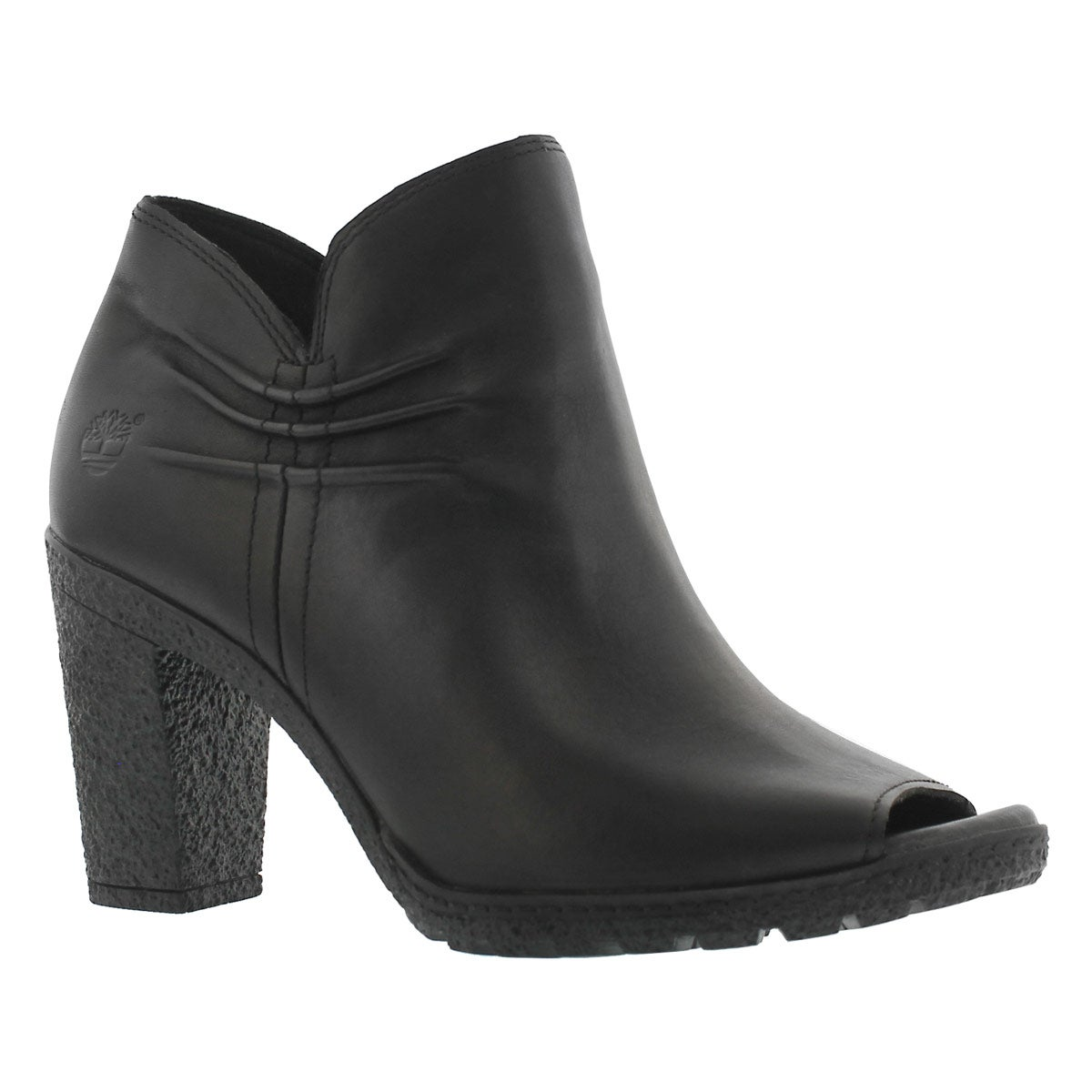 Women's GLANCY black peep toe dress boots