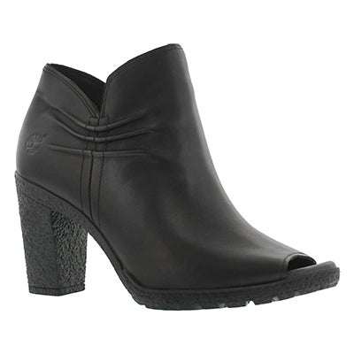 Lds Glancy black peep toe dress boot