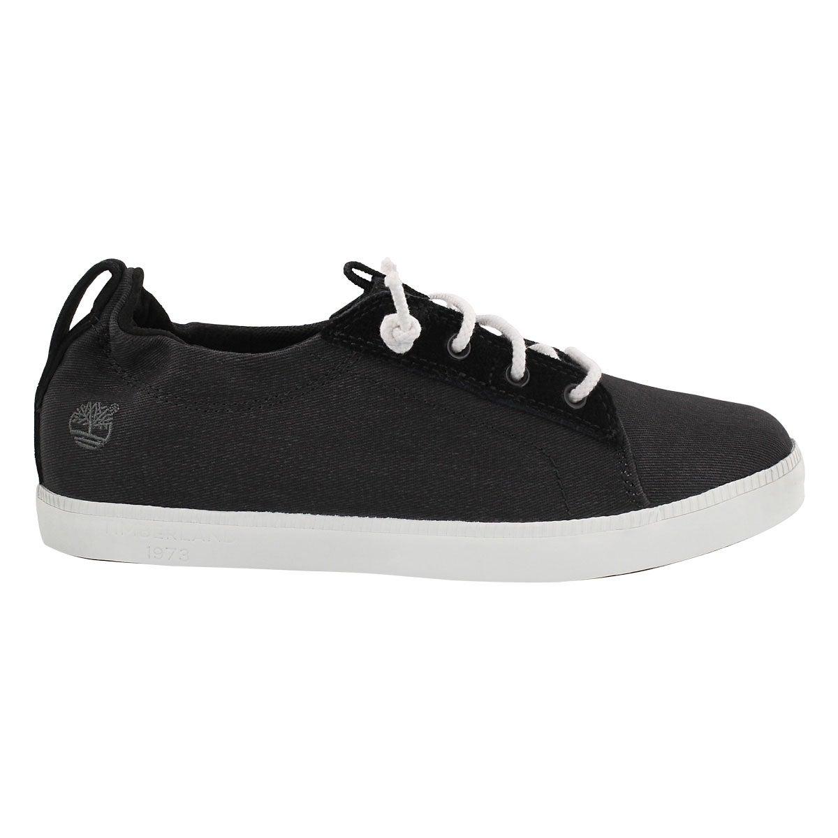 Lds Newport Bay black lace up snkr