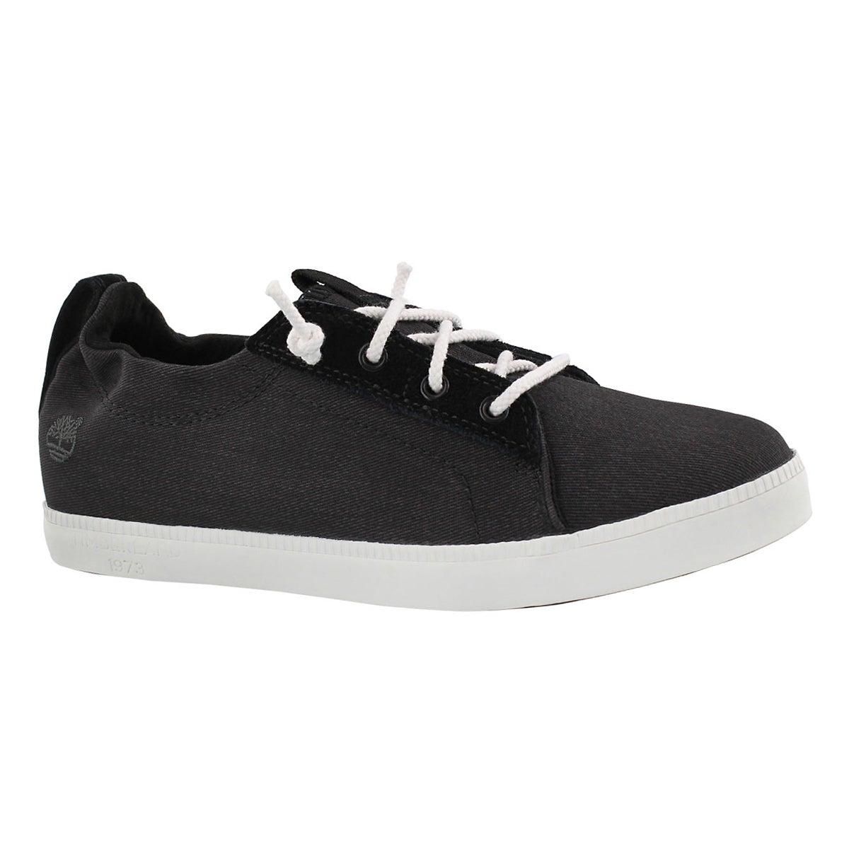 Women's NEWPORT BAY black lace up sneakers