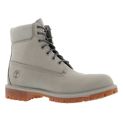"Timberland Men's ICON 6"" PREMIUM light grey work boots"