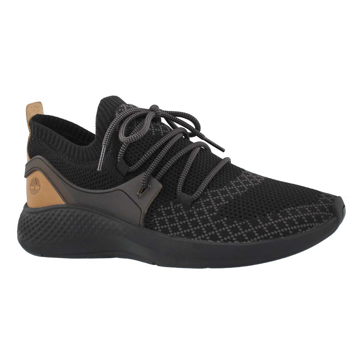 Men's FLY ROAM GO black knit sneakers