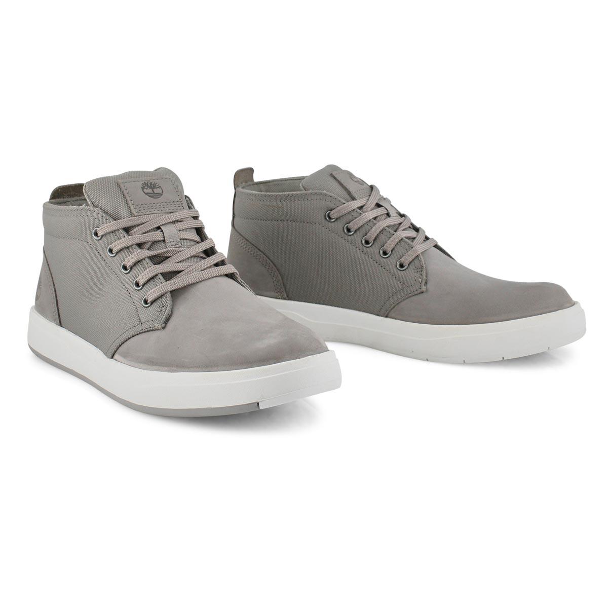 Men's DAVIS SQUARE grey chukka boots