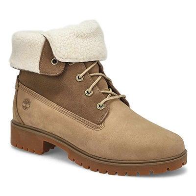 Lds Jayne lt brn wtpf fold down boot