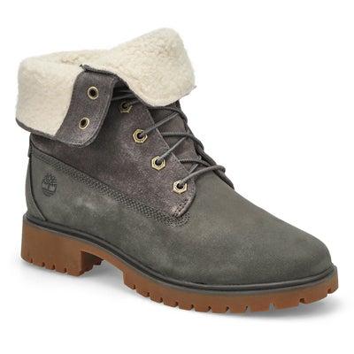 Lds Jayne drk grey wtpf fold down boot