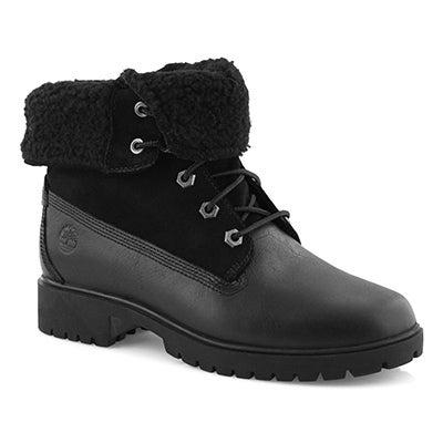 Lds Jayne blk wtpf fold down boot