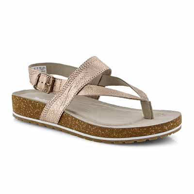 Lds Malibu Waves rse gld thong sandals