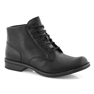 Lds Magby black lace up mid ankle boot