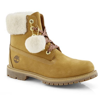 Lds Icon Shearling Collar wheat wp boot