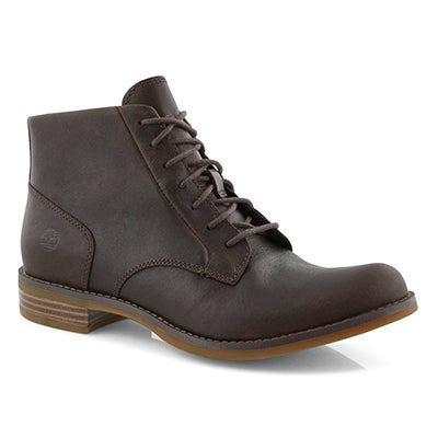 Lds Magby dk brn lace up mid ankle boot