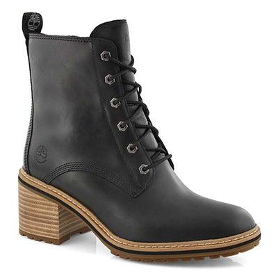 Lds Sienna High black wtpf heel boot