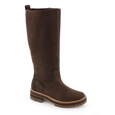 Lds Courmayer Valley drk brn tall boot