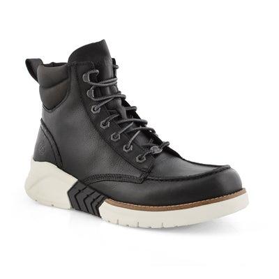 Mns MTCR black moc toe lace up boot