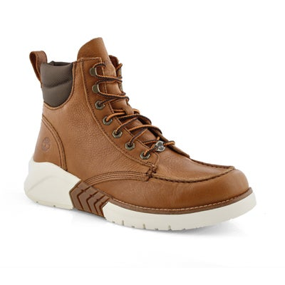Mns MTCR med brown moc toe lace up boot
