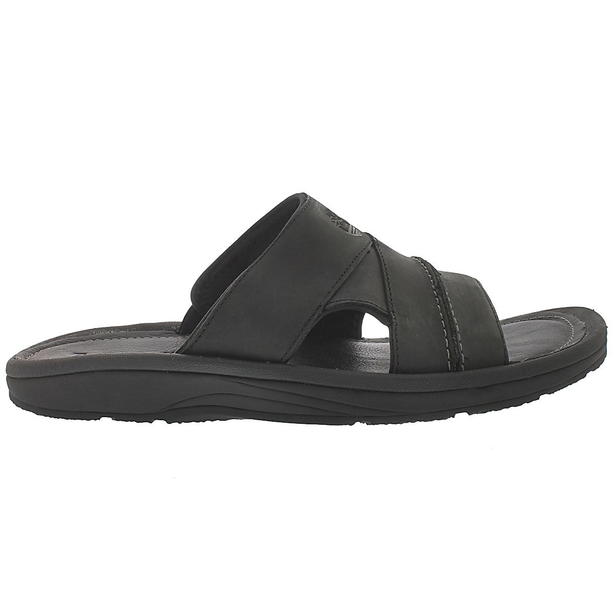 Mns Earthkeepers blk oiled slide sandal