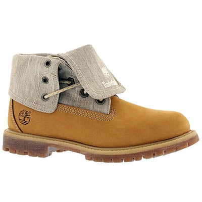 Timberland Women's AUTHENTICS wheat fold down boots