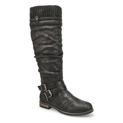 Lds Teah black mid calf boots