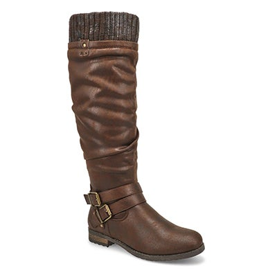 Lds Teah brown mid calf boots