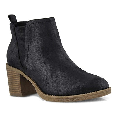 Lds Tekla black slip on bootie
