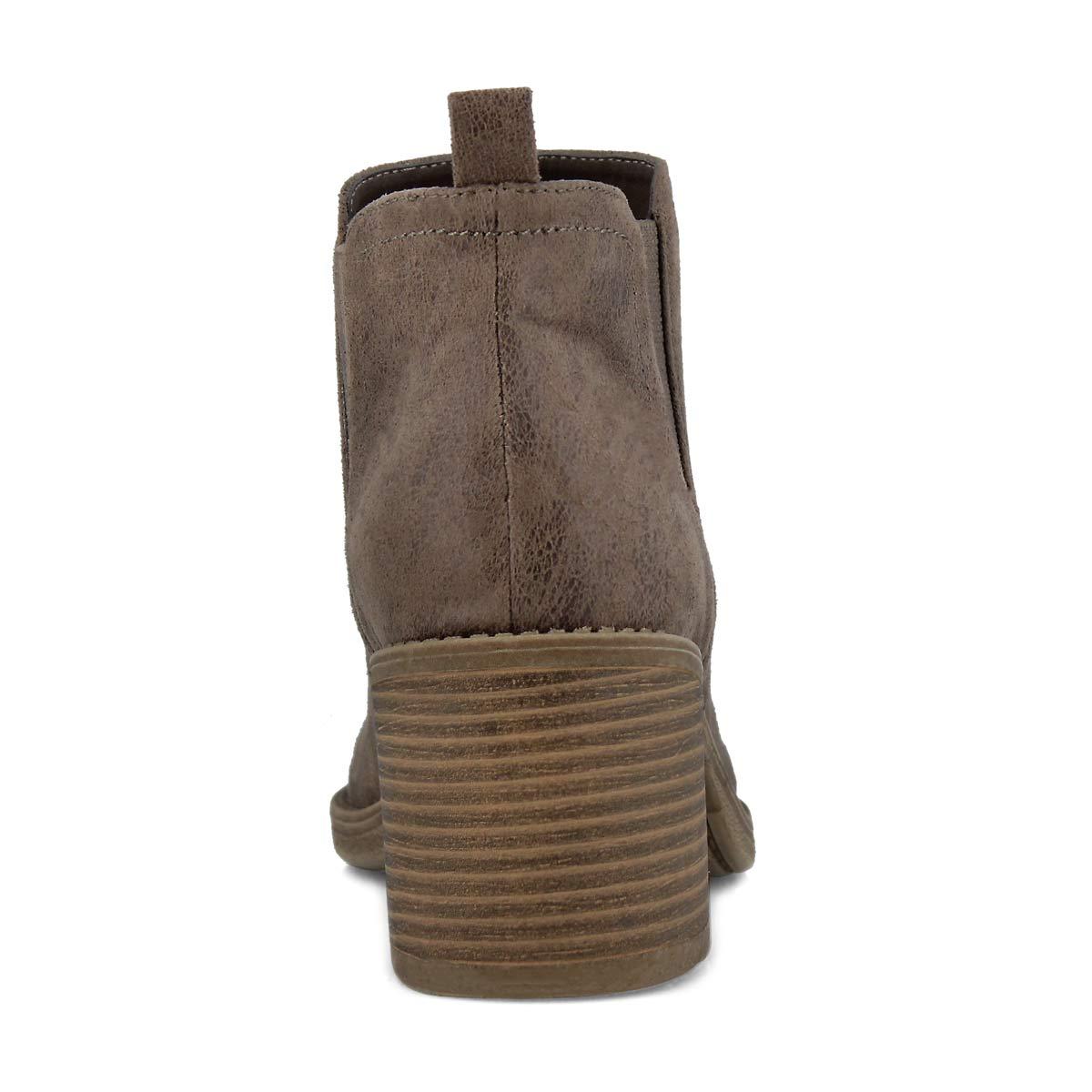 Women's TEKLA taupe slip on booties