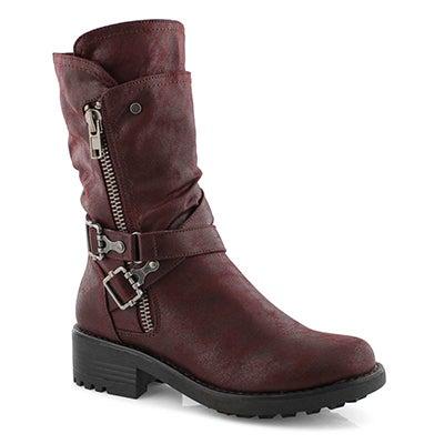 Lds Tessie 2 burg slip on combat boot