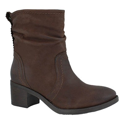 Lds Thalia dark brown casual ankle boot