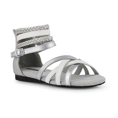 Grls Thandi silver/white casual sandal