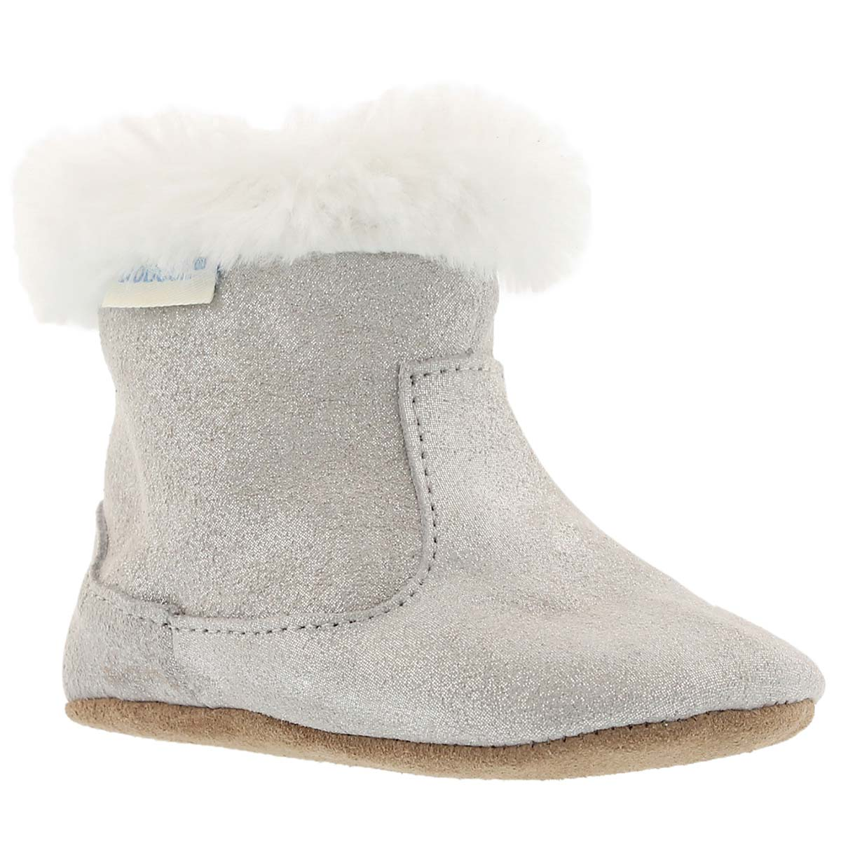 Infants' THEA TWINKLE grey sparkle booties