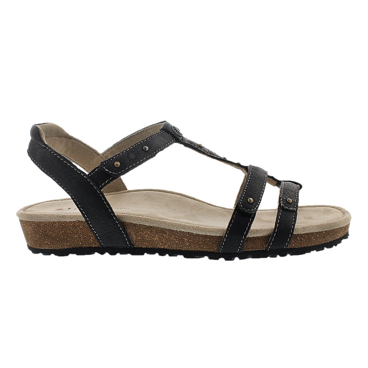Sandale compens�e Thelma, noir, femmes