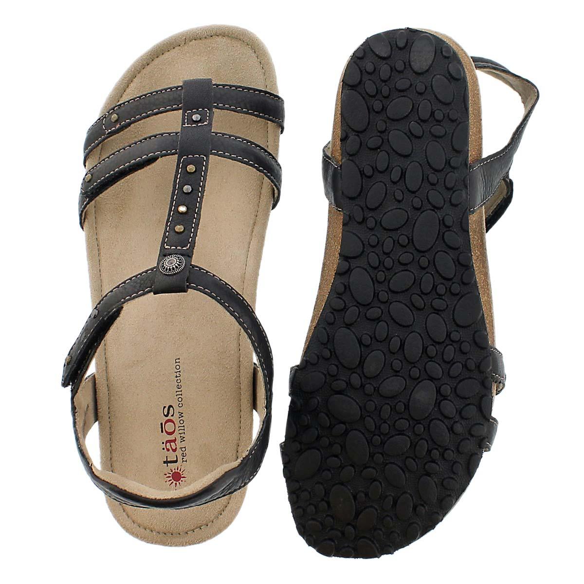 Sandale compensée Thelma, noir, femmes