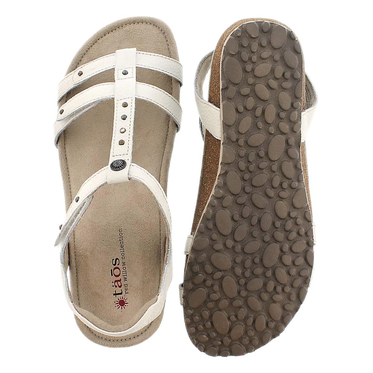 Sandale compensée Thelma, blanc, femmes