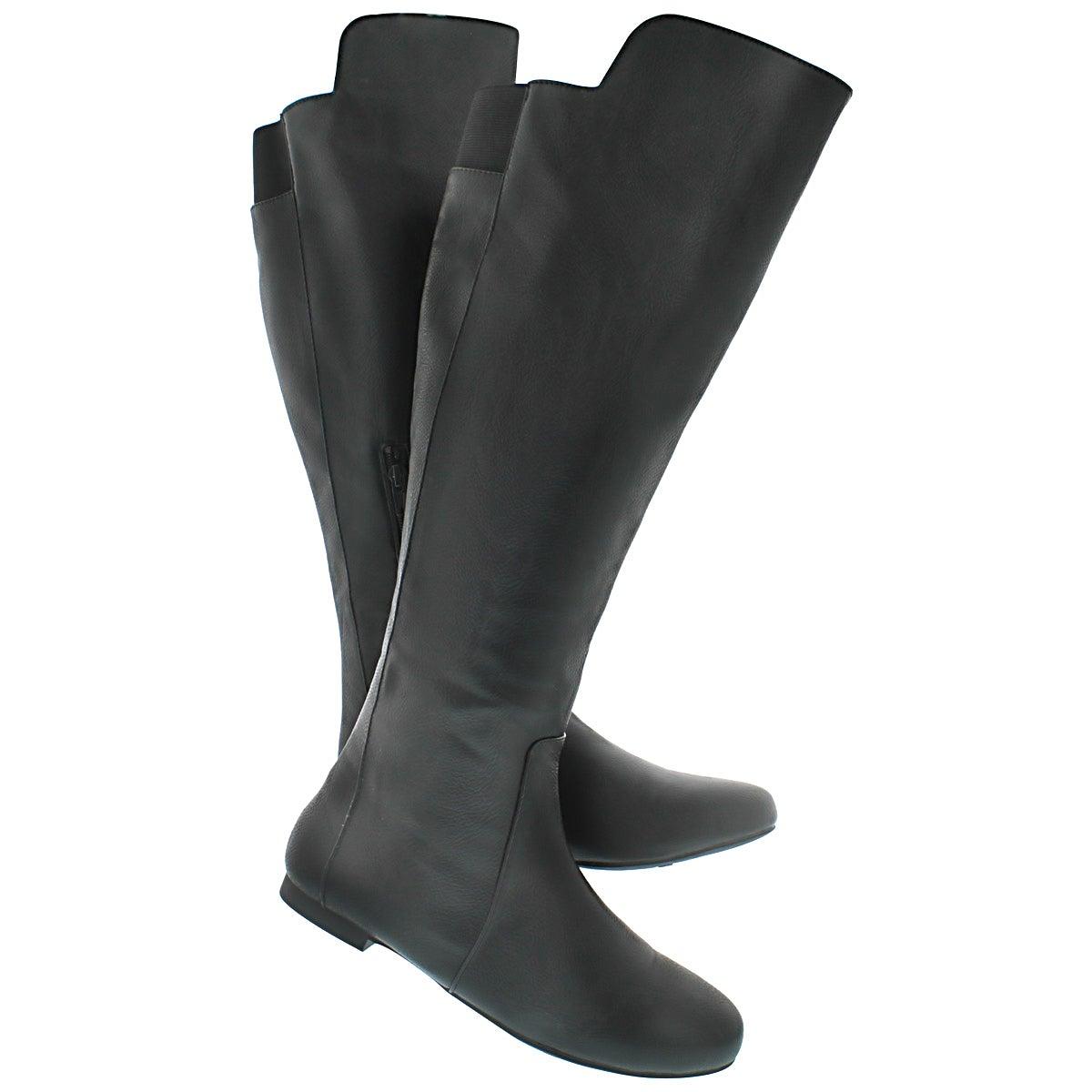 Lds Tiara blk tall casual boot
