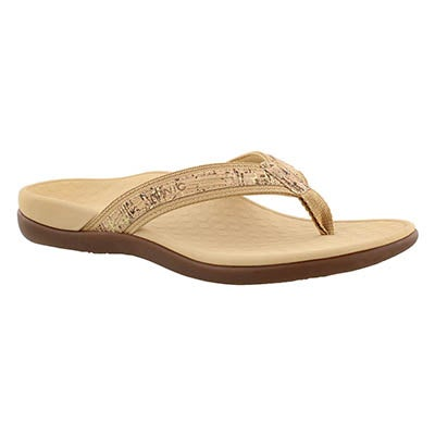 Lds Tide II gold arch support thong sndl