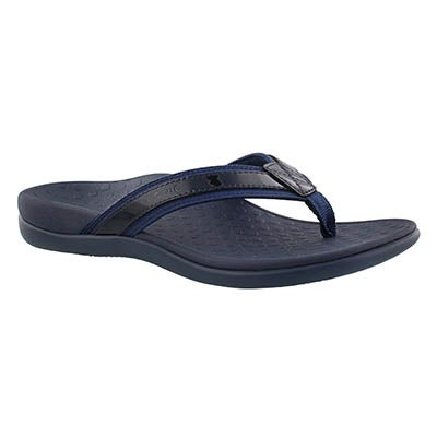 Lds Tide II navy arch support thong sndl