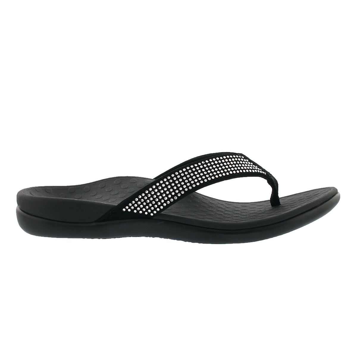 Lds TideRhinestone blk arch support thng