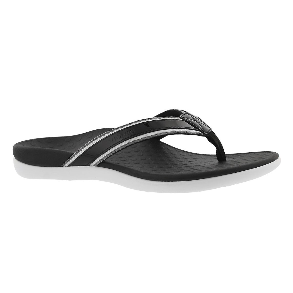 Women's TIDE SPORT blk arch support thong sandals