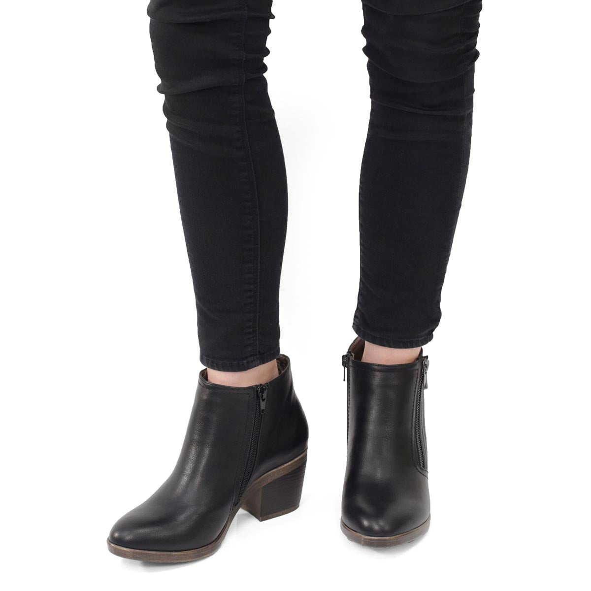 Lds Tiffany black casual ankle boot