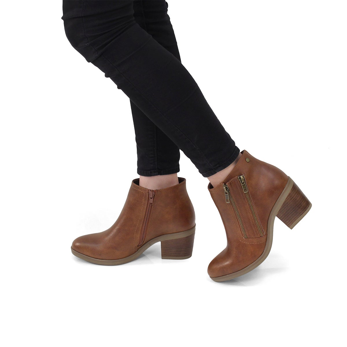 Lds Tiffany cognac casual ankle boot