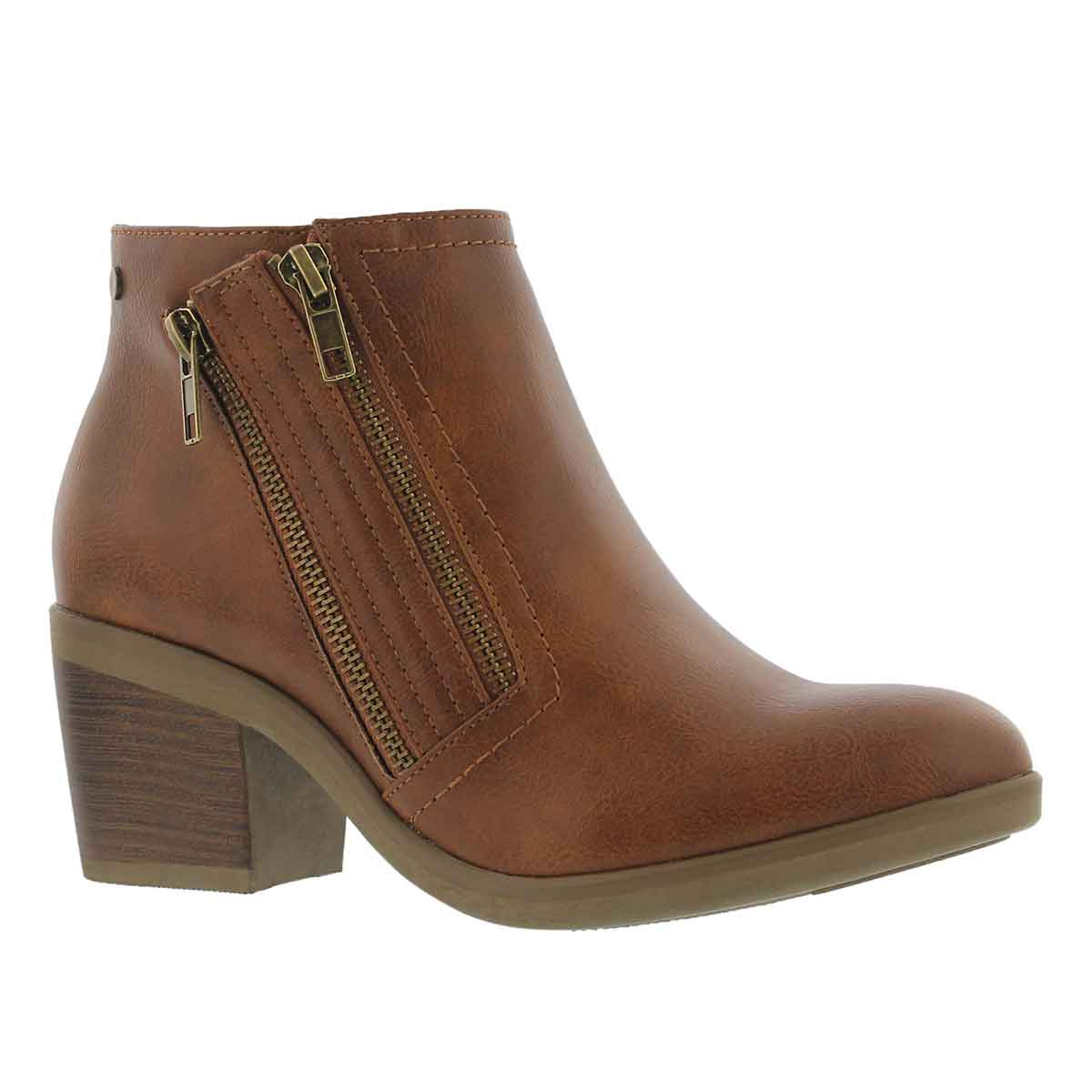 Women's TIFFANY cognac casual ankle boots