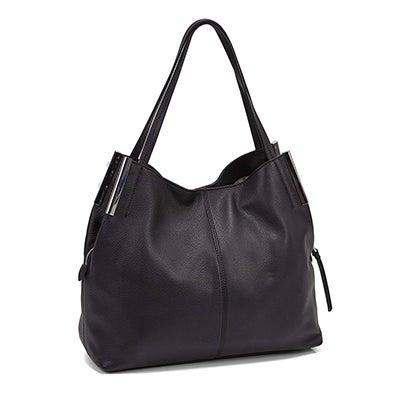 Lds Tina black large tote hand bag