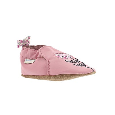 Robeez Infants' TINA TULIP pink soft slippers