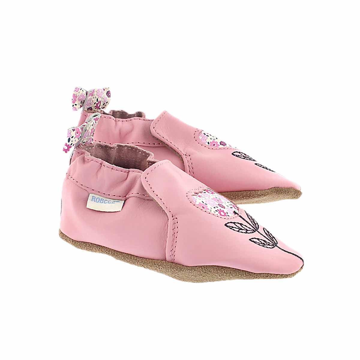 Inf Tina Tulip pink soft slipper