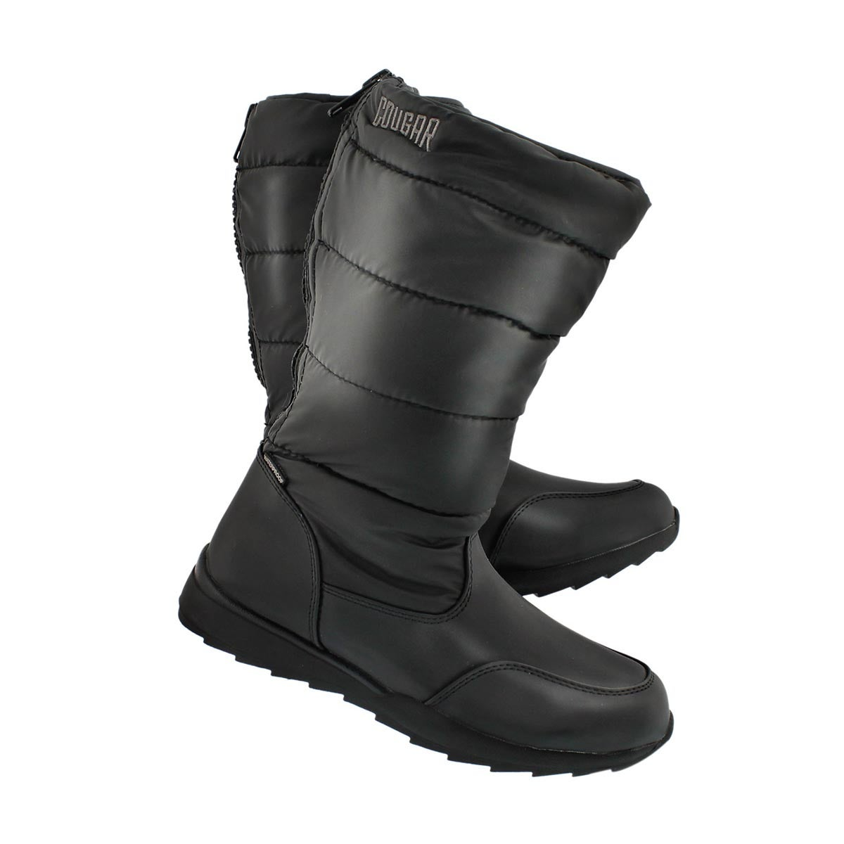 Grls Tizzy blk nylon wtpf winter boot