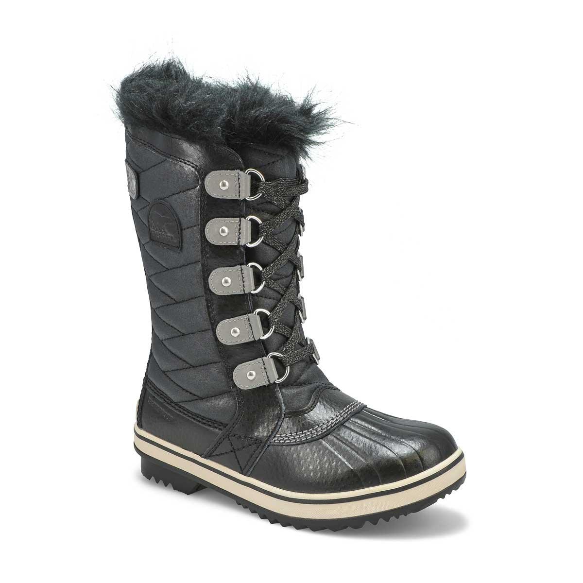 Girls' TOFINO II black waterproof snow boots