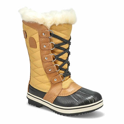 Sorel Girls' TOFINO II curry waterproof snow boots