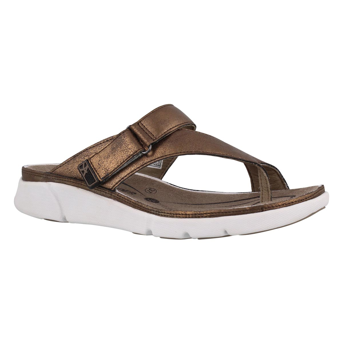 Women's TOKARA bronze thong sandals