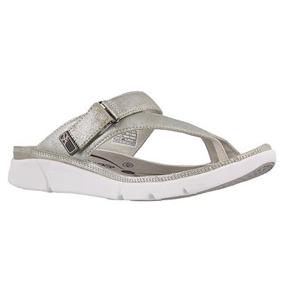 Lds Tokara silver thong sandal