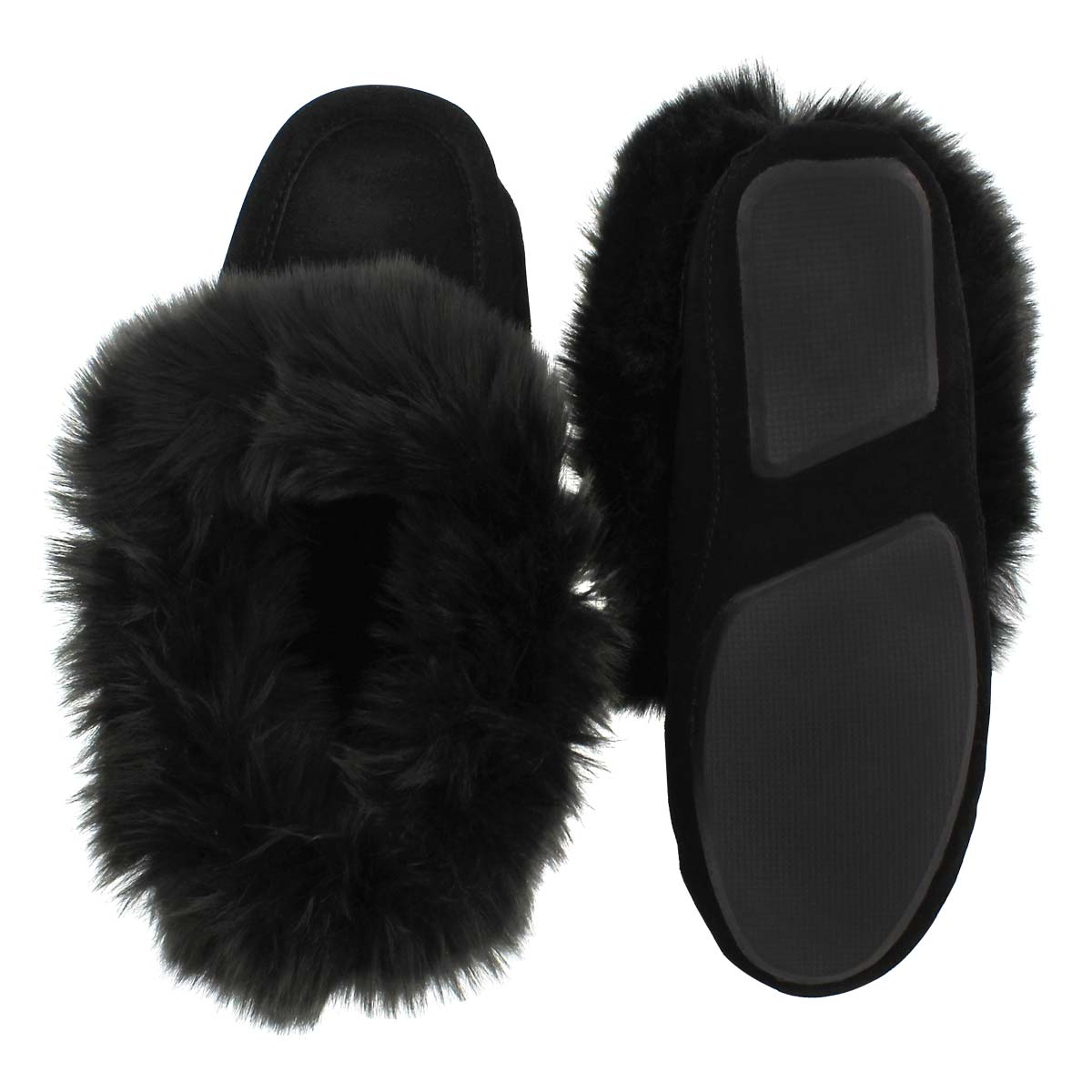 Lds Too Cute black lined moccasin